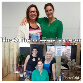 Top Photo: Me with Natalie Sisson. Bottom Photo: L to R Sally Feinerman, Natalie Sisson and Fiona Hall.